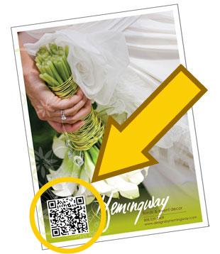 QR Code : Wedding magazine ad