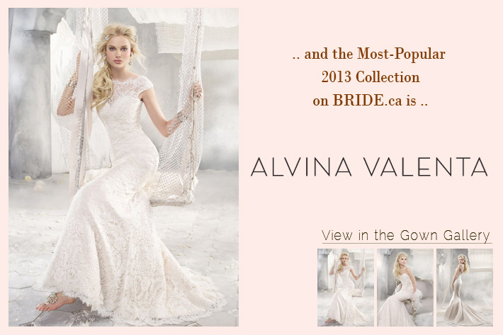 Alvina Valenta wedding dresses 2012, 2013